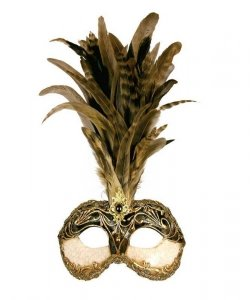 Maska wenecka - Colombina Strucco Piume II