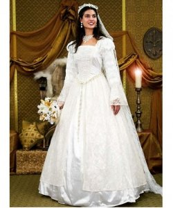 Kostium teatralny - Renesansowa suknia ślubna