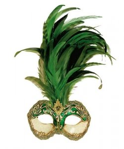 Maska wenecka - Colombina Strucco Piume
