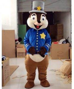 Chodząca maskotka - Wiewiórka Policjant