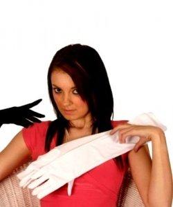 Rękawiczki - Białe Długie 48 cm