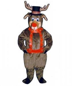 Strój chodzącej maskotki - Wiktoriański Renifer Rudolf