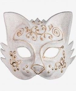 Maska wenecka - Gold Cat