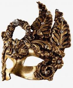 Maska wenecka - Diamond Dama Gold