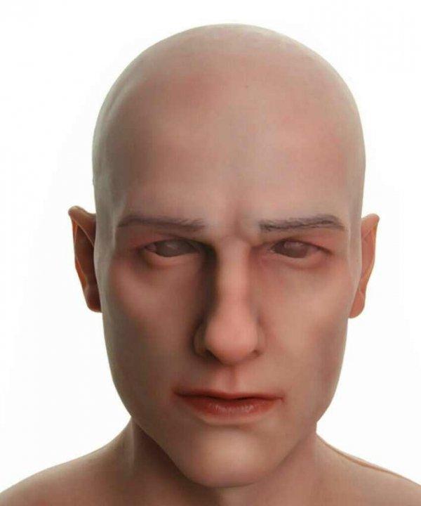 Maska silikonowa, realistyczna twarz młodzieńca Sunnego