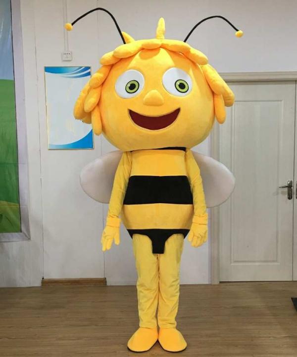 Strój żółtej sympatycznej majowej pszczółki