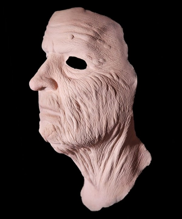 Staruszek widok maski z boku