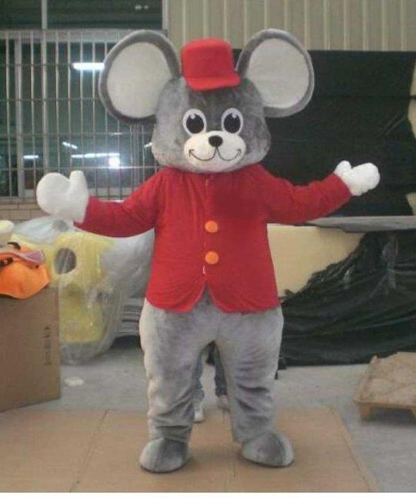 Mysz w czerwonym przebraniu
