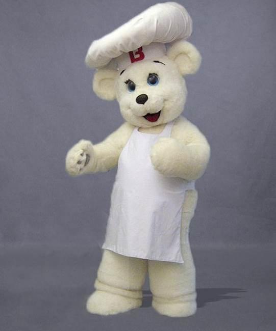 Strój chodzącej maskotki - Miś Kucharz Polarny