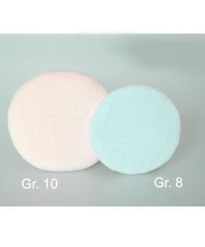 Puszek do pudrowania - GR. 8 niebieski 8 cm