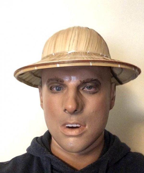 Lestat podróznik realistyczna twarz męska