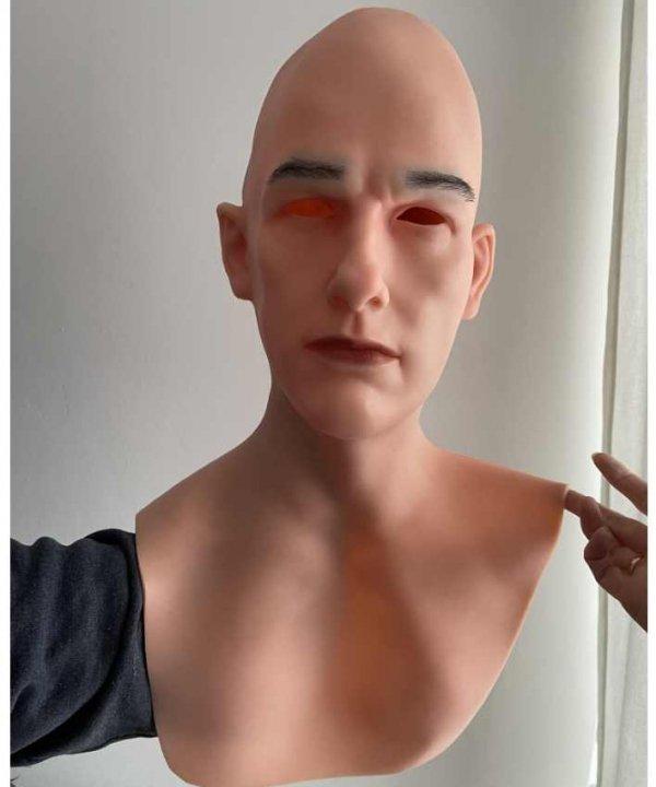 Realistyczna twarz maska silikonowa Sunny