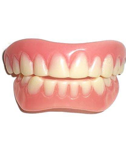 Sztuczne zęby - Movie Star (męska górna i dolna szczęka, kolor naturalny)