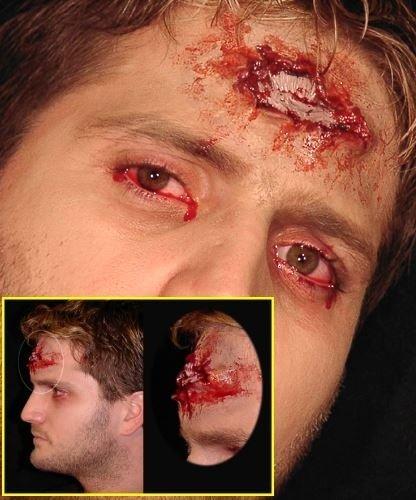 Sztuczna rana - Postrzał w głowę