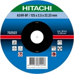 HITACHI Tarcza do cięcia metalu stali 115x2,5x22,2mm wypukła - PREMIUM