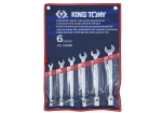 KLUCZE PŁASKO-NASADOWE 6szt 10-19mm KING TONY