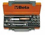 Beta 910B/C16 Zestaw nasadek 3/8 z wyposażeniem 16szt