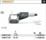 Beta 1658DGT/25 Mikrometr zewnętrzny z odczytem cyfrowym 0-25mm