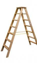 Stabilo drabina dwustronna drewniana ze stopniami 2x7