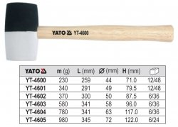 YATO Młotek blacharski gumowy 340g YT-4601