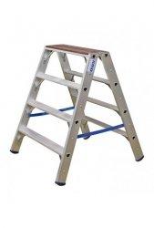 Stabilo drabinka dwustronna z drewnianą nakładką ze stopniami 2x4
