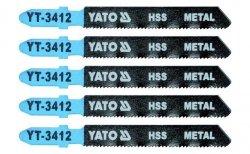 YATO Brzeszczot do WYRZYNARKI METAL TYP T 5SZT YT-3412