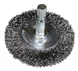 HITACHI Szczotka kołowa z trzpieniem 50x1/4BITx0,3mm falowana