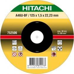 HITACHI Tarcza do cięcia metalu INOX 180x1,5x22,2mm wypukła - PREMIUM