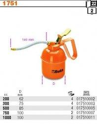 Beta 1751/200 Olejarka ciśnieniowa metalowa 200ml