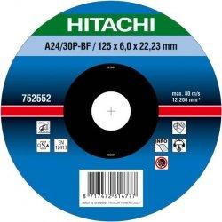 HITACHI Tarcza do szlifowania stali 125x6x22,2mm wypukła - PREMIUM