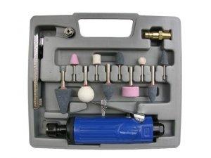 Zestaw szlifierka pneumatyczna trzpieniowa + kamienie AD-012Z