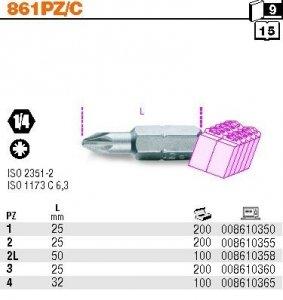 Beta 861PZ/C1 Końcówka wkrętakowa krzyżowa PZ1