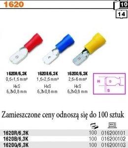 Beta 1620R/6.3K Końcówki kablowe wtykowe płaskie 100 szt