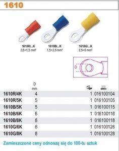 Beta 1610R/4K Końcówki kablowe oczkowe opak. 100 szt.