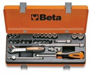 Beta 900MB/C28 Zestaw nasadek 1/4+ akcesoria 28szt.