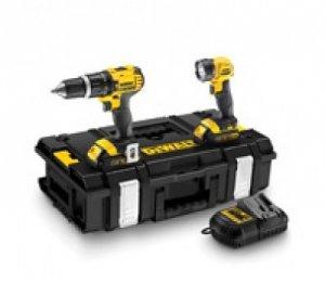 DeWalt DCK282C2 Zestaw narzędzi DCD785 + DCL040+ 2x akum. + ładowarka + walizka