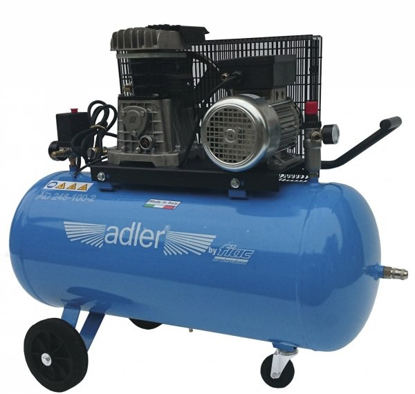 ADLER sprężarka dwucylindrowa 10bar 100L  AD 268-100-2