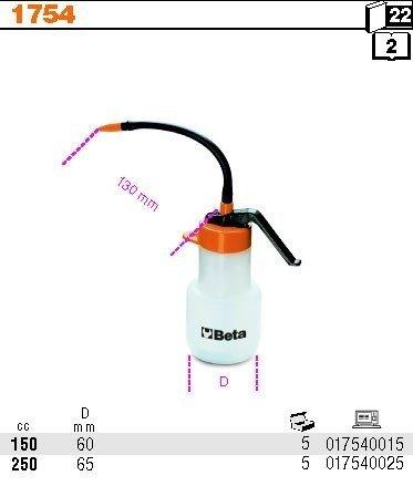 Beta 1754/150 Olejarka ciśnieniowa z rurką giętką 150ml
