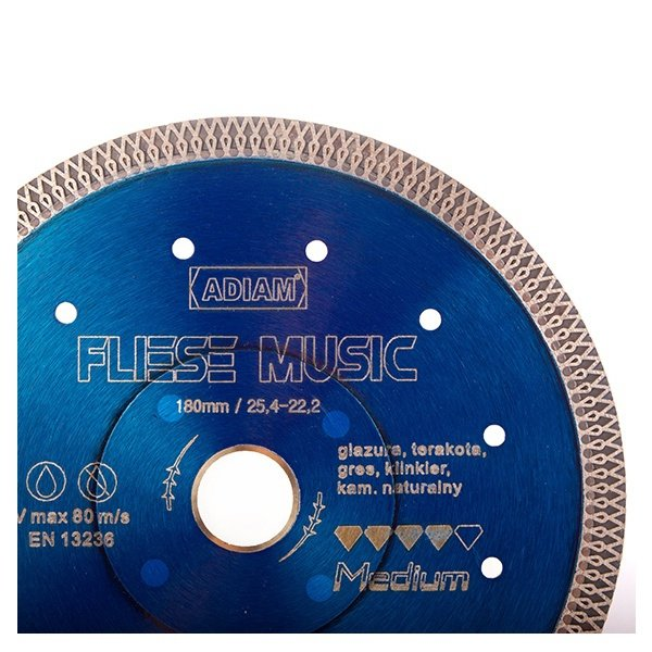Adiam tarcza diamentowa FLIESE MUSIC Ø200mm x 25,4-22,23mm