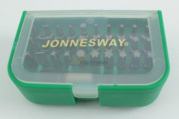 """JONNESWAY Zestaw 31 bitów końcówek wkrętakowych 1/4"""" DBT31B"""