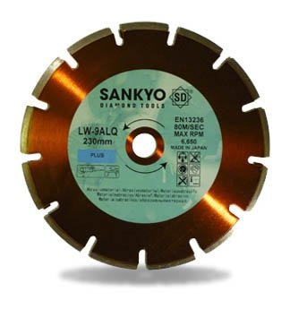 Tarcza diamentowa 150 mm do cięcia asfaltu silki chudego betonu LW-6ALQ segment 150 x 2,2 x 7 x 22.2mm