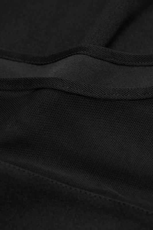 Dopasowana Sukienka Alexis z elementami z siatki - czarny