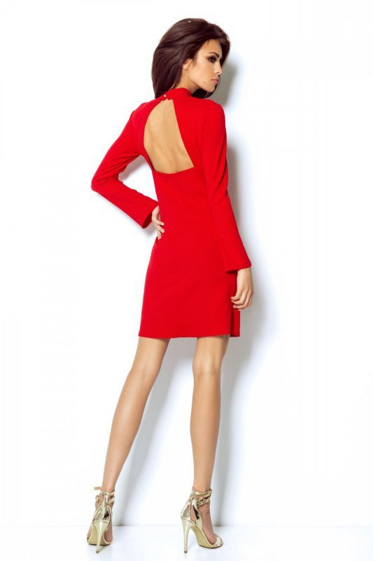Dopasowana Sukienka Giselle - czerwony