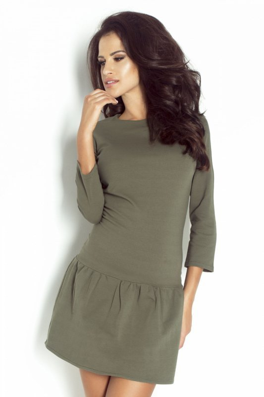 Minimalistyczna Sukienka Katie - khaki