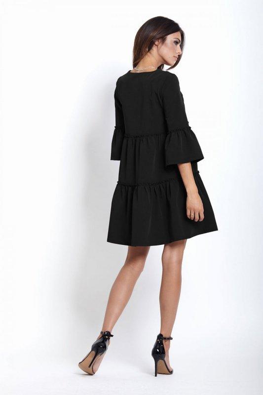 Trapezowa Sukienka Greta - czarny