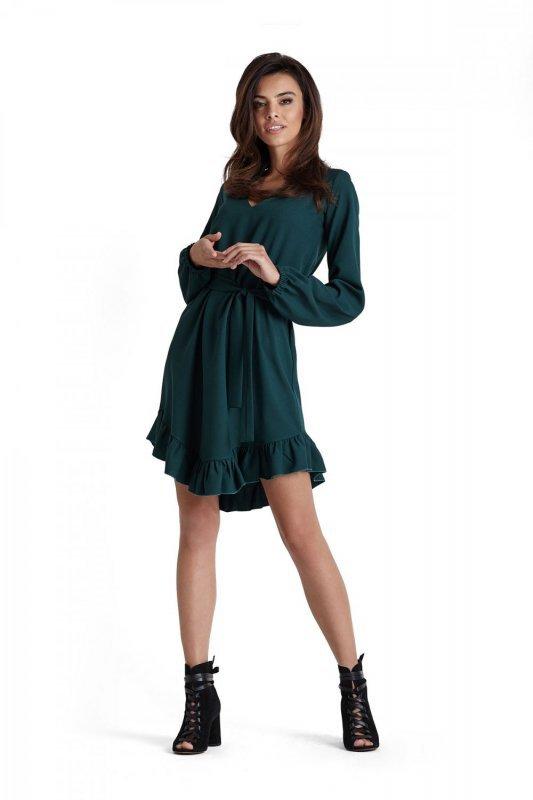 Sukienka Masha w Stylu Boho - zielony