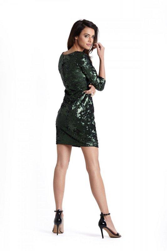 Cekinowa Zielona Sukienka Colin