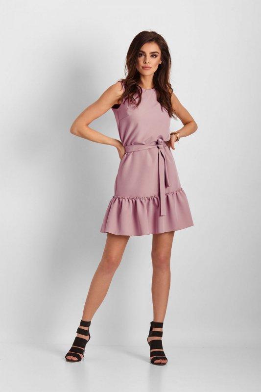 Elegancka sukienka Lorena bez rękawów - różowy