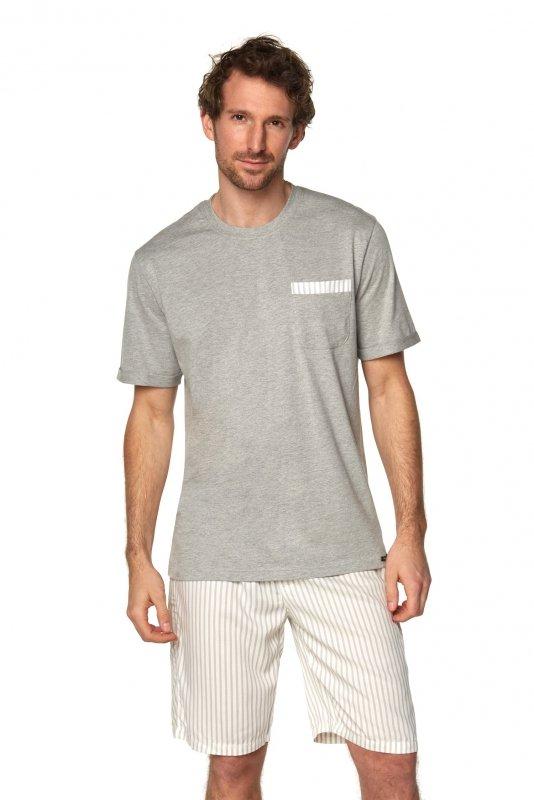 Piżama Brian SAM-PY-188 I Szary melange