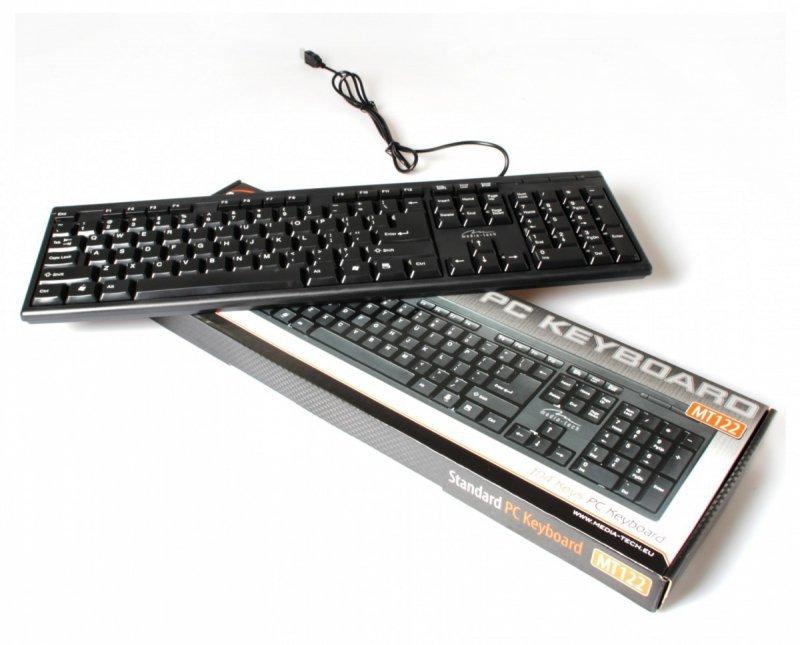 Media-Tech Klawiatura standardowa USB MT122KU, czarna